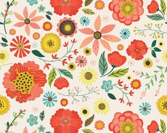 30% OFF Roots & Wings Cream Main - 1/2 Yard