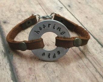 Medical Alert Bracelet, Leather Medical Bracelet, Fashionable Medical Bracelet, Medical ID Bracelet, Diabetic Bracelet, Allergies Bracelet