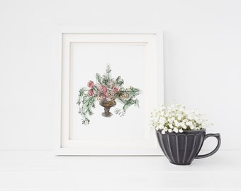 Garden Rose Bouquet Art Print
