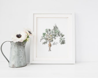 Classic & Clean Bouquet Art Print