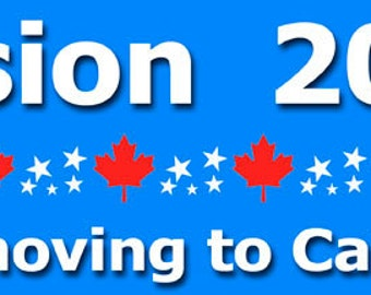 """Moving to Canada Bumper Sticker Magnet--11"""" x 3"""""""