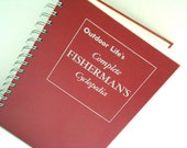 Fisherman's Notebook / Red Outdoor Life Notebook / Recycled Book Journal