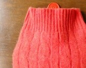 Cashmere Hot Water Bottle Cozy. Gifts for Sisters. Orange Cashmere Hot Water Bottle Cover. Housewarming Gift Idea. Pure Cashmere. Xmas Gift