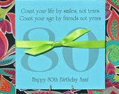 Birthday Favors - Party Favors - 80th Birthday Party Favors - Lottery Ticket Holder for 80th Birthday