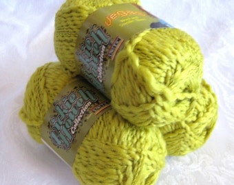 50% off - soy silk Wool blend yarn, golden mustard yellow with metallic sparkle, SWTC Vegas, worsted weight