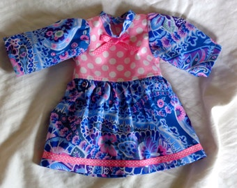 Doll Dress and Shoes 16 inch