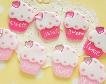 5 pcs Lovely Cupcake Cabochon (25mm30mm) CD644 (((LAST)))