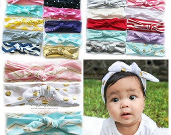 SALE Baby Headwrap Turban Girl - Baby Knot Headband - You Choose - Toddler Headwrap - Baby Top Knot Head Wrap - Turban Headband - Fabric