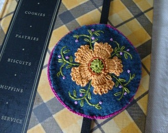 Deep Blue and Melon Bookmark