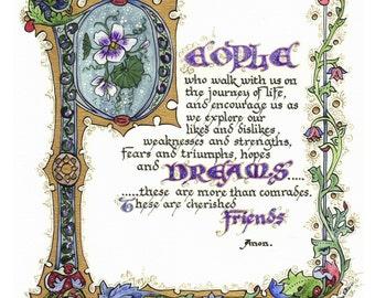 People, Dreams, Friends - Digital Download Print