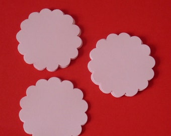 "50 scallop circle gift tags toppers 2.1/4"" swing tags,table decor/ hang tags,colour options"