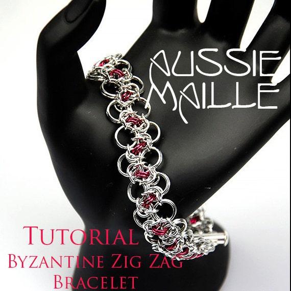 Zig Zag Jewellery: Byzantine Zig Zag Bracelet From