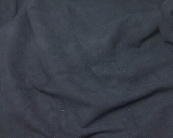 BLACK Suede Lambskin Leather Hide Piece #62