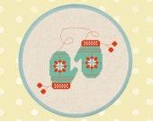 Cozy Knit Mittens. Cross Stitch PDF Pattern