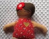 Lindsey Large Handmade Fabric Baby Doll