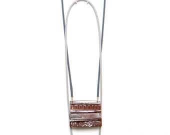 Strata Necklace on light grey braid.