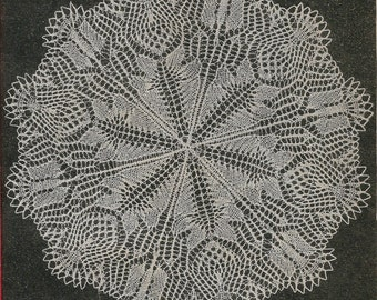 INSTANT DOWNLOAD 1950's Colonial doily, knitting pattern