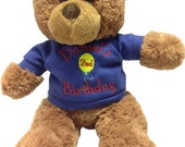 Personalized birthday bear