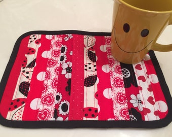 Snack Mats, After School, Working Late, Home Accessory, Furniture Protectors, Lunch Box Accessory, Patchwork, Quilted