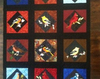 Bird Applique Quilt Top