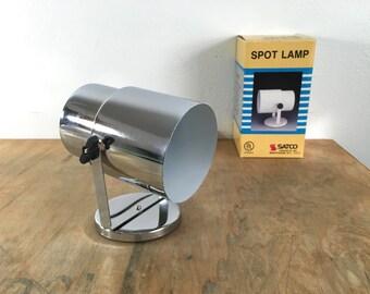 Vintage Satco Chrome Spot Lamp - Unused in Box