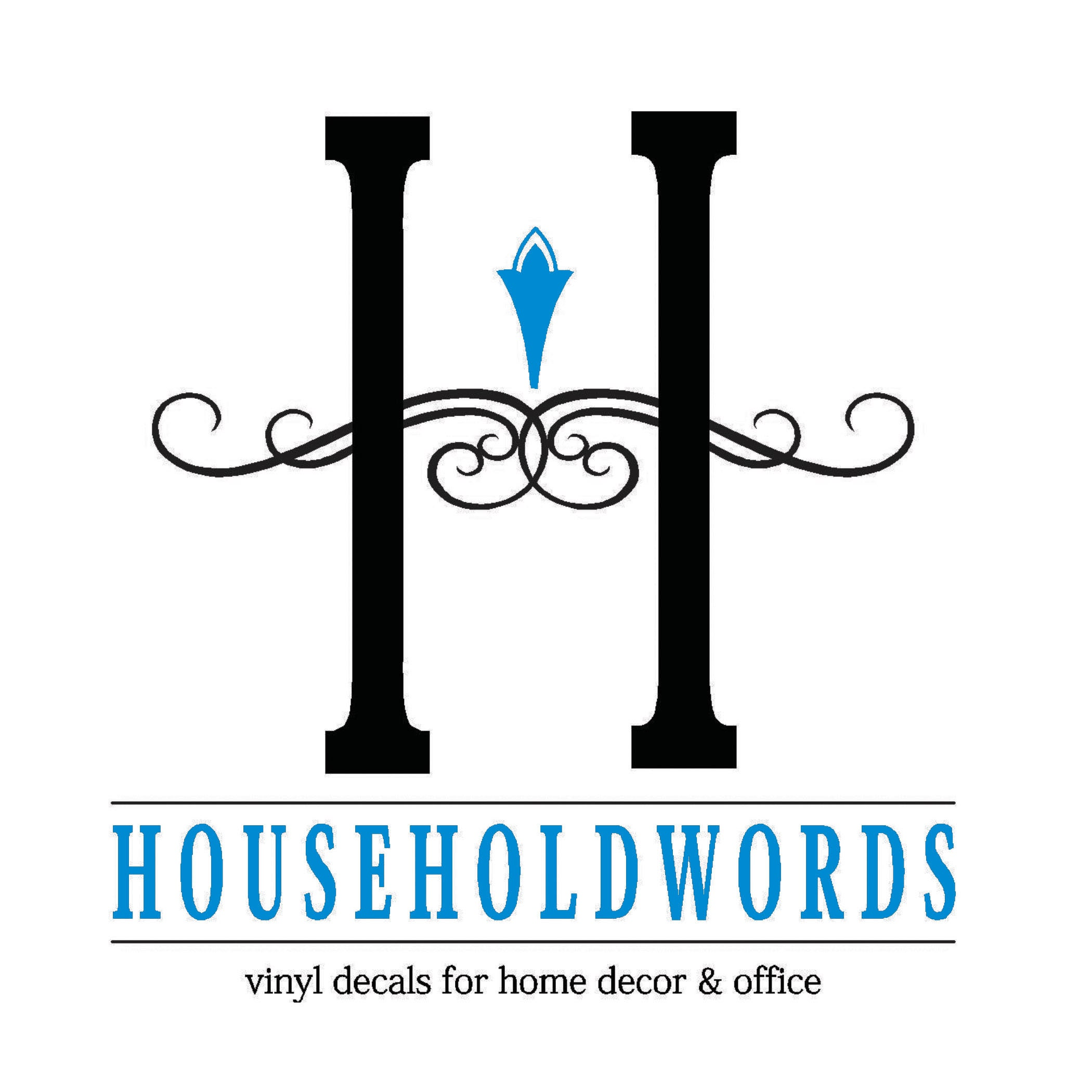 Removable vinyl wall decals words for home by householdwords amipublicfo Choice Image