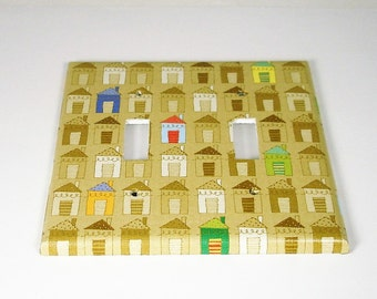 Switch Plate Cover Double  Switchplate in  Suburbia (139D)