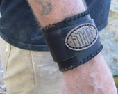 ALU-ULA -  leather cuff - norse rune protection - made to order