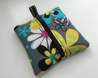 Mini Key Pouch in Michael Miller Far Out Floral