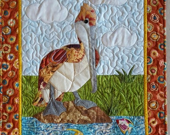 Pelican Applique Quilt Wallhanging Pattern