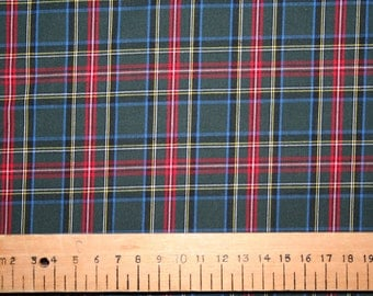 tartan stoff meter etsy. Black Bedroom Furniture Sets. Home Design Ideas