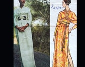 Vintage 70s Vogue Couturier Galitzine Obi Waist Wrap Kimono Dress Sewing Pattern 2482 B36
