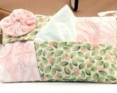 YoYo  Tissue & Kleenex Holder. For Purse, Gift, Stocking Stuffer, Teacher, Student Gift in pink and green.