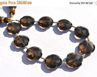 55% OFF SALE 7 Inches AAA Natural Smoky Quartz Faceted Clover Briolette Size 13x13mm approx Clover Beads Gemstone Briolette Beads