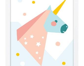 Unicorn Poster A3