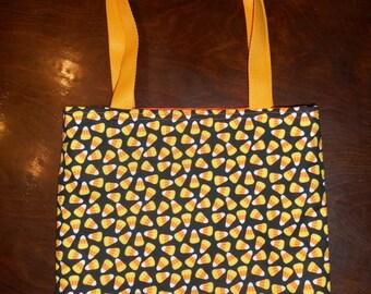 Candy Corn Tote Bag Halloween Trick or Treat Handmade Purse Treat Bag Limited
