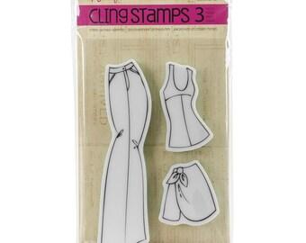 Skirt & Pants Julie Nutting Cling Stamps