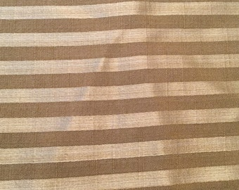 Shimmery Taupe Striped Fabric - 5 yards