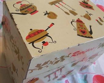 charming ohio art recipe box