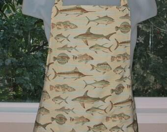 mens aprons - bbq apron - full aprons - aprons - full of fish