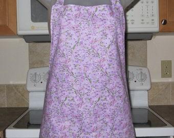 Womens Aprons - Full Aprons - Lilacs - Lavender Lilacs