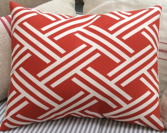 Cottage French Red Pillow, Beach, Urban Loft, Industrial, Farmhouse, Bedroom, Throw Pillow, Boho
