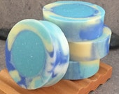 White Tea and Ginger Decorative Round Artisan Soap
