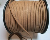 Faux Suede Lace, Microfiber Suede Cord, Saddle Brown Flat Cord, Fake Suede Leather, Soft Pliable, 2.4mm x 1.0mm, Length 15 Feet, sl4