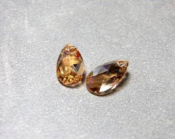 Swarovski Golden Shadow Crystal Teardrop Pear Beads 16mm (2)