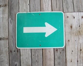 Graphic Industrial Arrow Street Sign