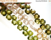 Clearance SALE Khaki Cubic Zirconia CZ Faceted Heart Briolette top Drilled 5mm 29 beads