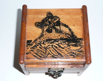 Wood Music Box - Raccoon
