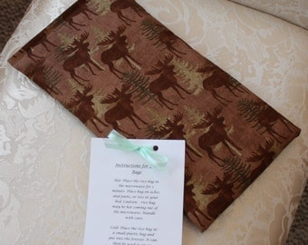 Back Country Rice Bag, Therapeutic Rice Bag, Heating Pad, Moose, Wildlife, Boy, Large, Nature