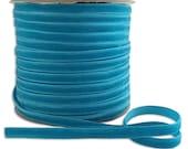 Three Yards Velvet Ribbon Trim Turquoise .25 Inch Wide 1/4 Inch Wide  VR200-TQ